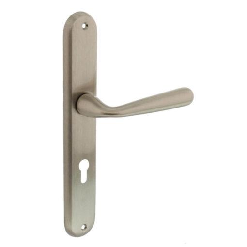 Intersteel deurklink Yvonne schild profielcilindergat 72 mm nikkel mat