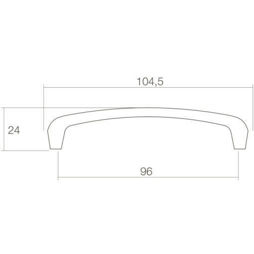 Intersteel kasttrekker bloem 105 mm - Technische tekening