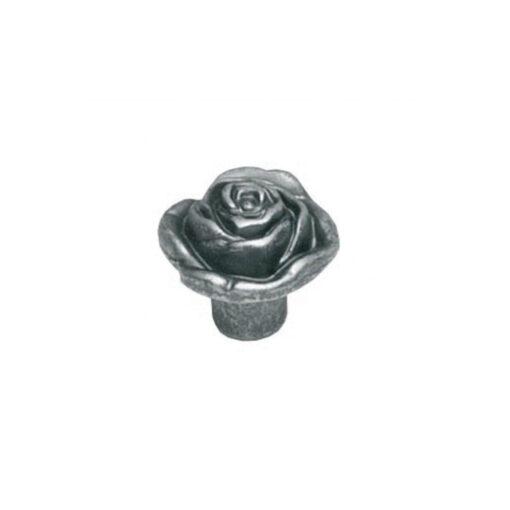 Intersteel kasttrekker bloem diameter 32 mm oud grijs