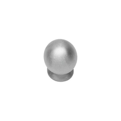 Intersteel kasttrekker diameter 25 mm bolrond achterplaat INOX geborsteld