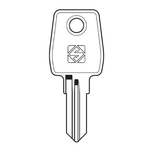 Brievenbus sleutel Brabantia