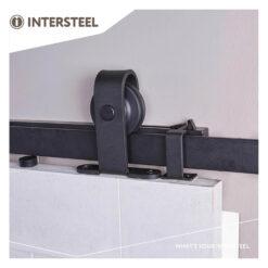Schuifdeursysteem Basic Top mat zwart - 3