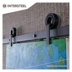 Schuifdeursysteem Modern Top mat zwart - 2