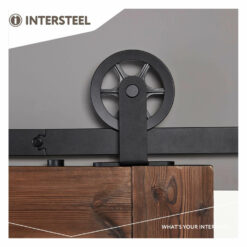 Schuifdeursysteem Wheel Top mat zwart - 4