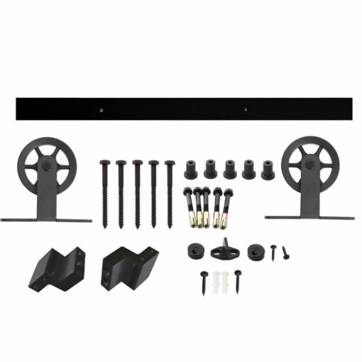 Schuifdeursysteem Wheel Top mat zwart