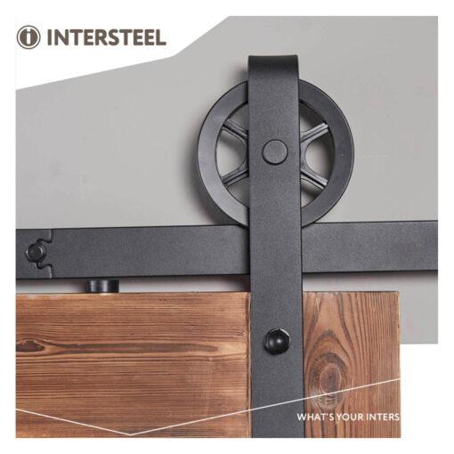 Schuifdeursysteem Wheel mat zwart - 5