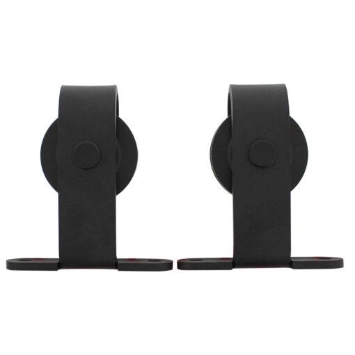 Set van 2 hangrollen 14 cm - Mat zwart
