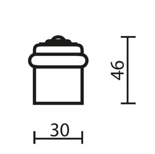 Deurstop ijzer - Technische tekening