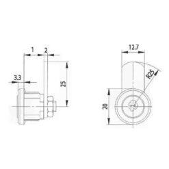 Burgwachter ZS 76 schroefcilinder - Technische tekening