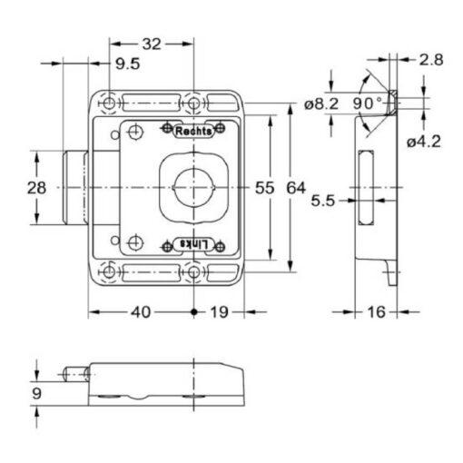 Junie 1881 40002 - Technische tekening