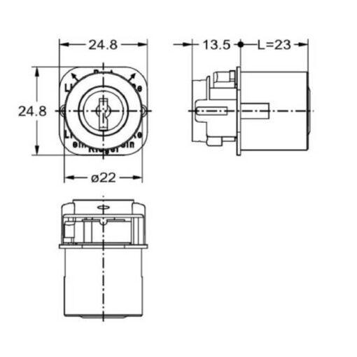 Junie 7555 00102 - Technische tekening