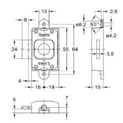 Junie 7581 20002 - Technische tekening