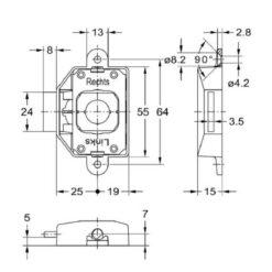Junie 7581 25002 - Technische tekening