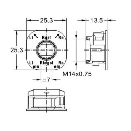 Junie 7616 00031 - Technische tekening