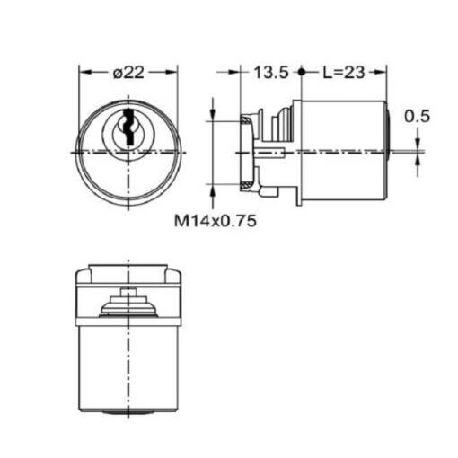 Junie 7638 - Technische tekening
