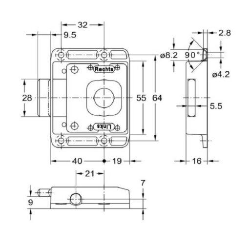 Junie 7781 40002 - Technische tekening