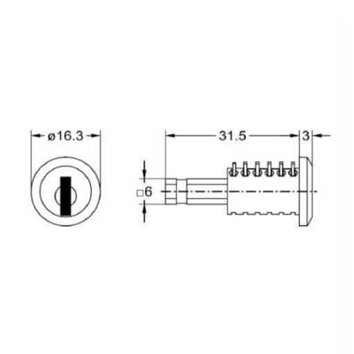 Junie 8535 Furore kern - Technische tekening