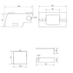 Antidiefstal voor remorque aanhangwagen voor hangslot - Technische tekening