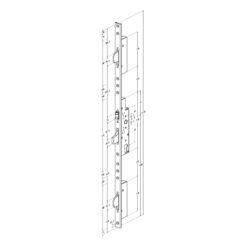 Technische tekening Sobinco 8411 rol meerpunt met U voorplaat