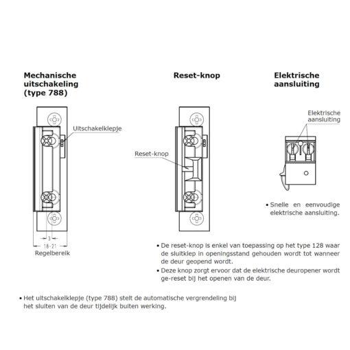 Sobinco elektrische deuropener 788-128E - Info