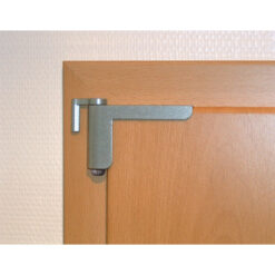 Abus deursluiter 2603 Zilver - In gebruik
