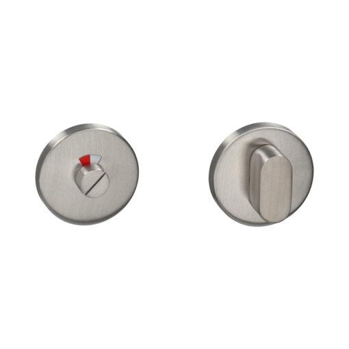 HDD WC-garnituur inox met rood wit venstertje
