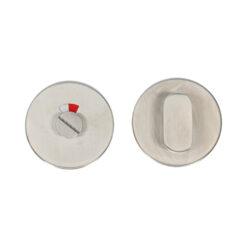 HDD Wc garnituur inox PLUS - Ovale draaiknop met venster - 2