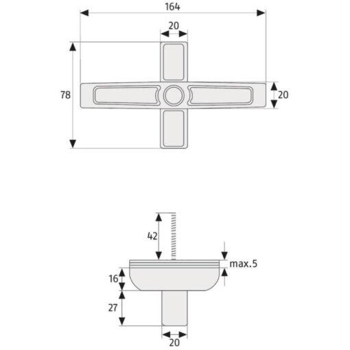 Abus 2420 - Technische tekening