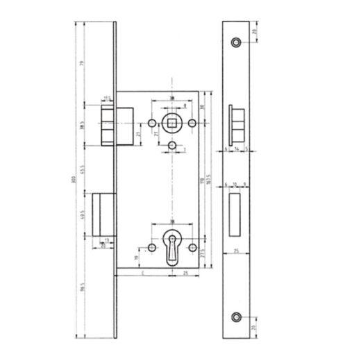 Dyla 159 - Technische tekening