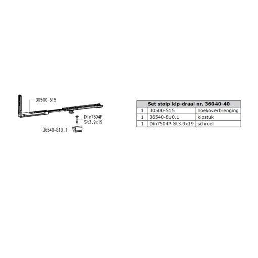 Sobinco 36040-40 set - Technische tekening