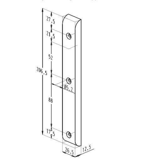 Sobinco 824ECL- Technische tekening