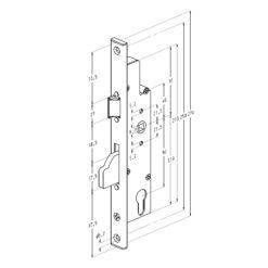Sobinco 8601 enkelslot - Technische tekening