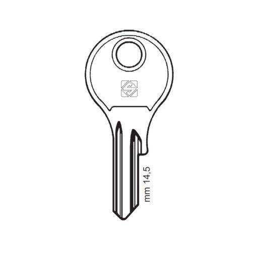 Silca sleutel DM10 op code