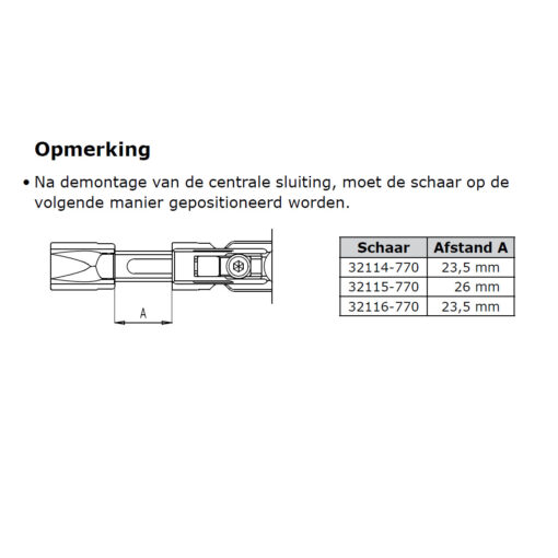 Sobinco 32115-770 schaar - Gebruiksaanwijzing