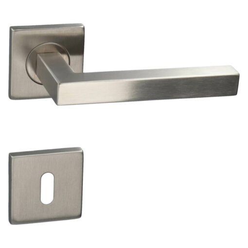 HDD PRO 6.397.000 deurkruk Kubic shape 16MM - Inox - Rozet met baardopening