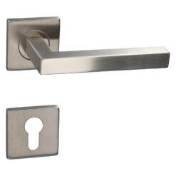 HDD PRO 6.397.001 deurkruk Kubic shape 16MM - Inox - Rozet met cilinderopening