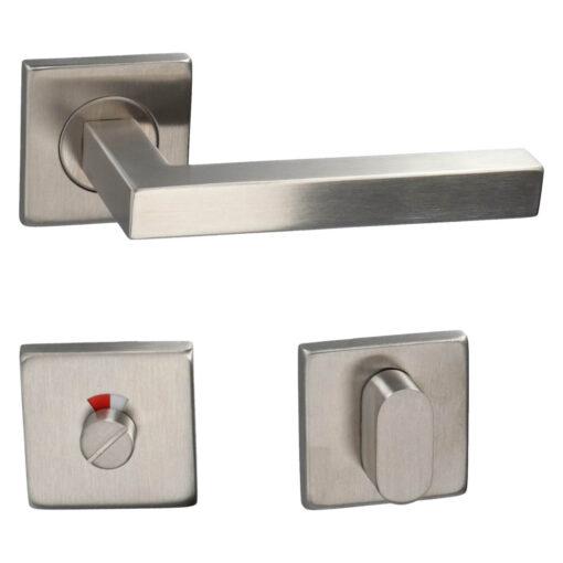 HDD PRO 6.397.002 deurkruk Kubic shape 16MM - Inox - Rozet met WC sluiting