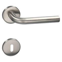 HDD PRO 6.474.000 deurkruk Zero L shape 19MM - Inox - Rozet met baardopening