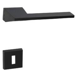 HDD PRO 6.541.090 deurkruk Seliz - Mat zwart - Rozet met baardopening