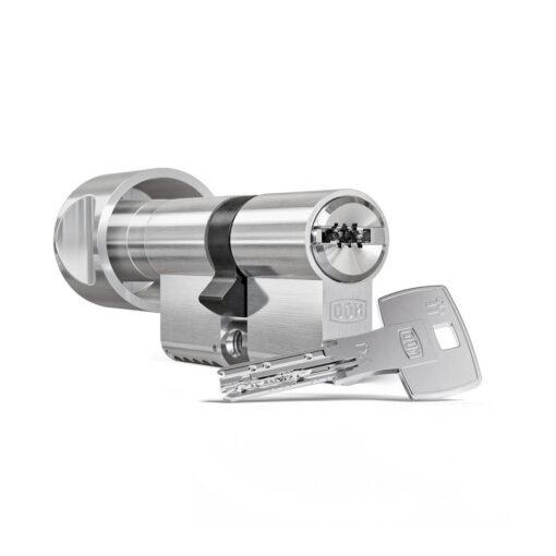 DOM IX Teco modulair SKG3 veiligheidscilinder met knop en sleutel