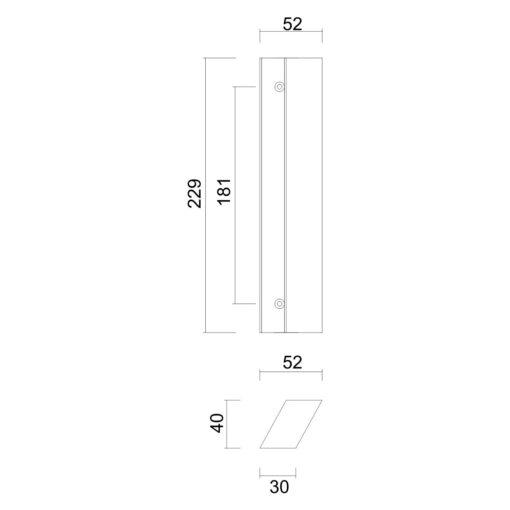 HDD Parra Groot - Technische tekening