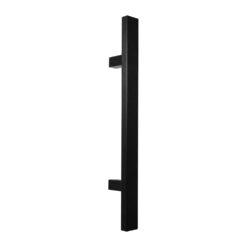 WALA rechthoekige deurgreep met rechte kant - Zwart