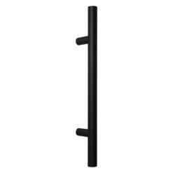 WALA ronde deurgreep met rechte kant - Zwart