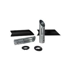 WALA ronde deurgreep met schuine kant - Zwart - Bevestigingsmateriaal