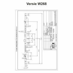 KFV AS2502 W268 - Technische tekening