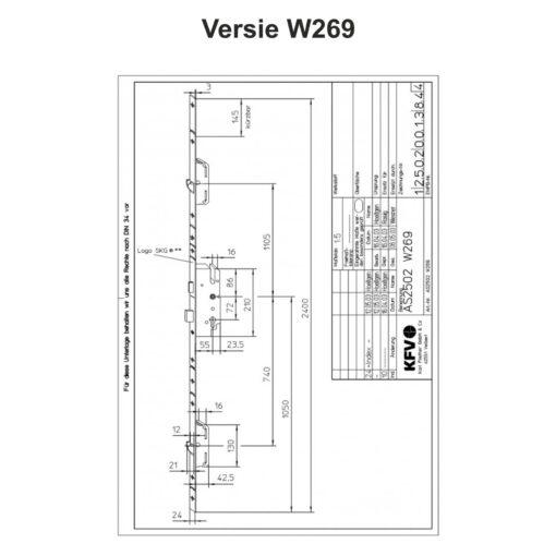 KFV AS2502 W269 - Technische tekening