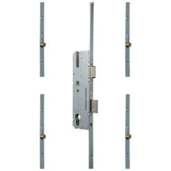 KFV AS4050 meerpuntsluiting met 4 rolnokken Krukbediend - Gesloten toestand