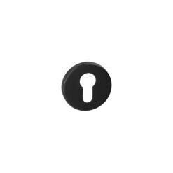 HDD Pro 1.005.091 ronde zwarte rozet met cilinderopening
