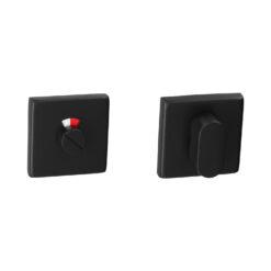 HDD Pro 1.132.092 vierkant zwarte WC-rozet